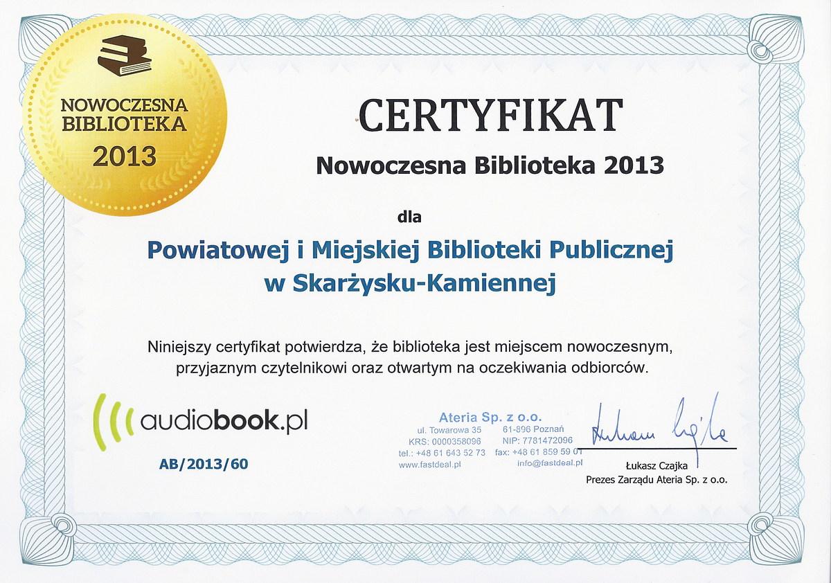 audiobook - certyfikat