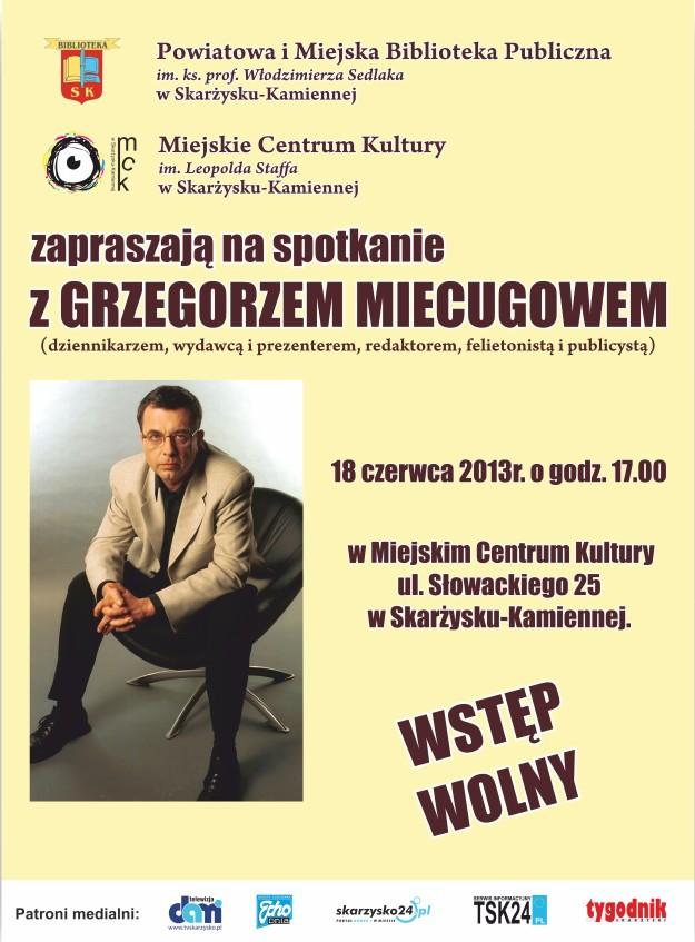 Spotkanie autorskie z Grzegorzem Miecugowem