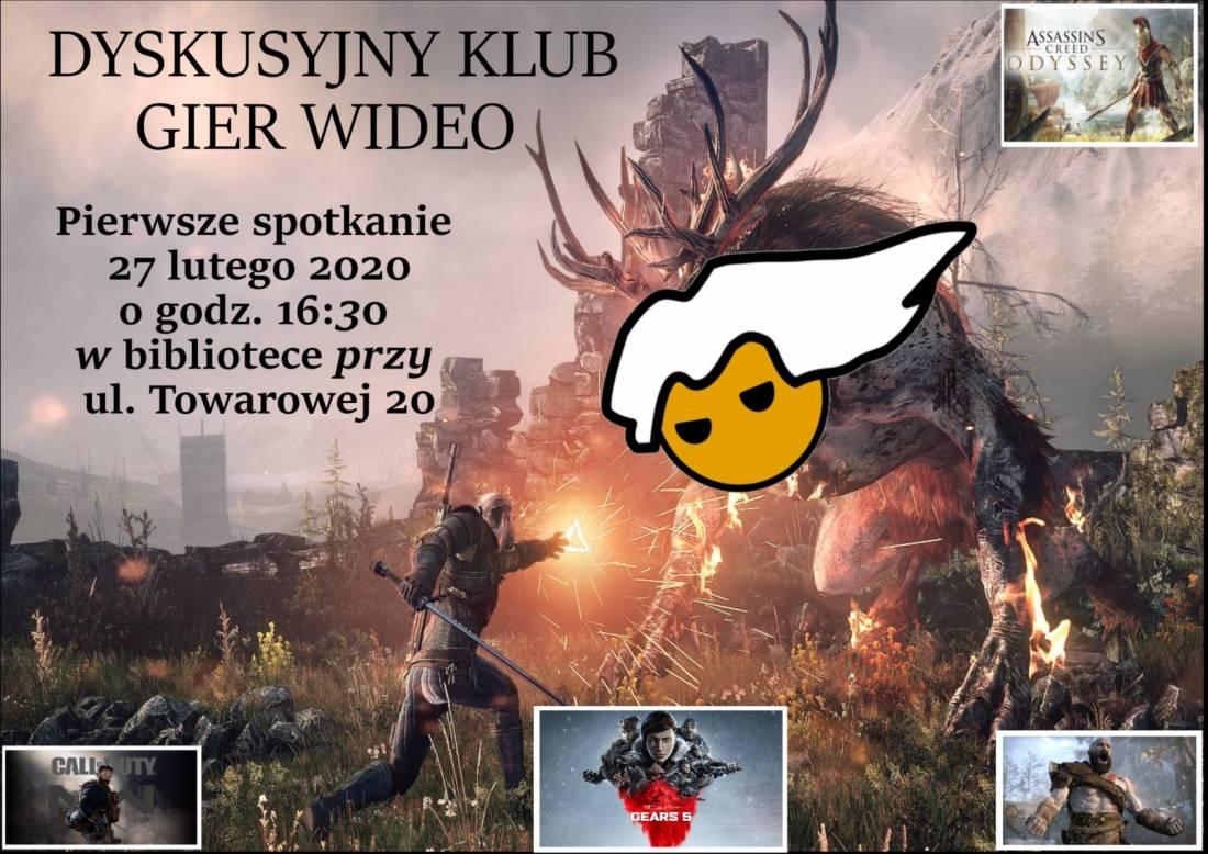 Dyskusyjny klub gier wideo plakat