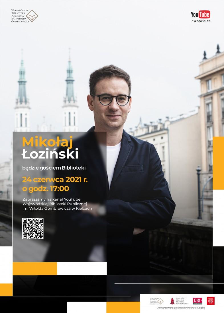Spotkanie z Mikołajem Łozińskim - plakat