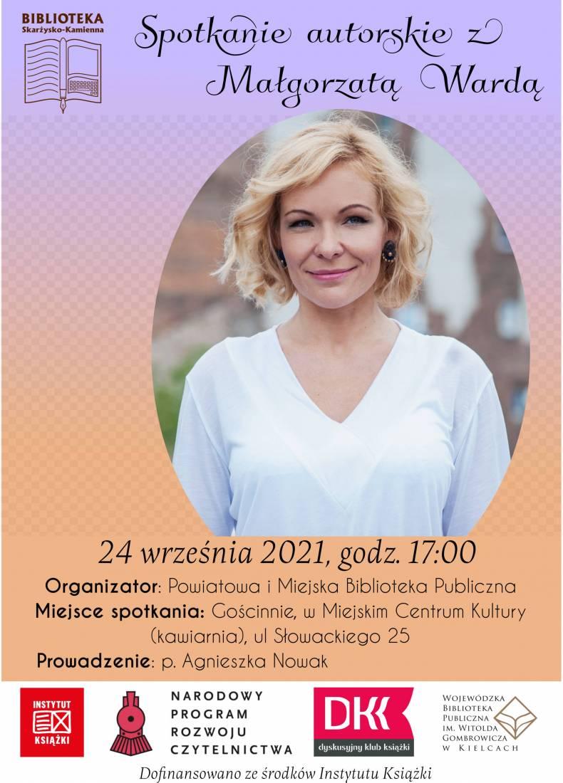 Spotkanie autorskie z Małgorzatą Wardą plakat
