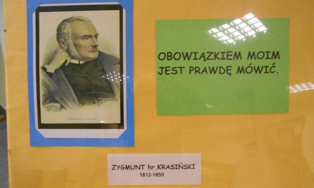 """""""Obowiązkiem moim jest prawdę mówić""""– wystawa ukazująca życie i twórczość Zygmunta Krasińskiego (160 rocznica urodzin). od 4 lutego do 3 marca – Filia nr 2 – ul. Sezamkowa"""
