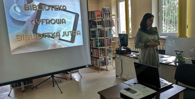 """W ramach Tygodnia Bibliotek w Czytelni F. 1 (ul. Towarowa) odbyły się lekcje biblioteczne pt.: """"Biblioteka cyfrowa – biblioteką jutra"""". Zajęcia były wzbogacone prezentacją multimedialną przedstawiającą biblioteki cyfrowe w Polsce, […]"""